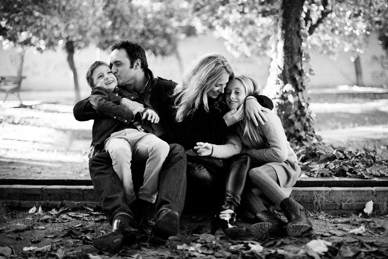 Momentos. Verónica y Sylvain con sus hijos