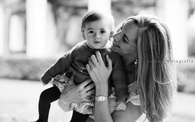 El cariño en las fotos de familia